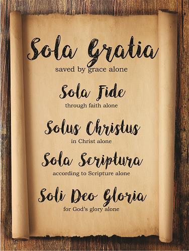 Sola – Sola Gratia, Grace Alone